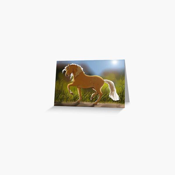 Piaffe in the Sun Greeting Card