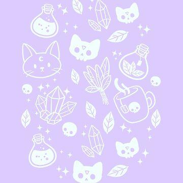 Herb Witch // Purple Pastel by nikury