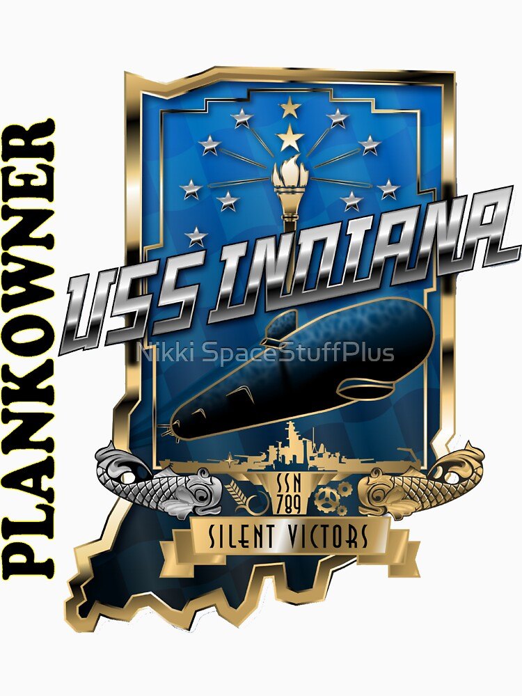 SSN-789 Plankowner Crest for Light Color Clothing by Spacestuffplus