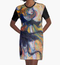 Ribbon Lady Graphic T-Shirt Dress