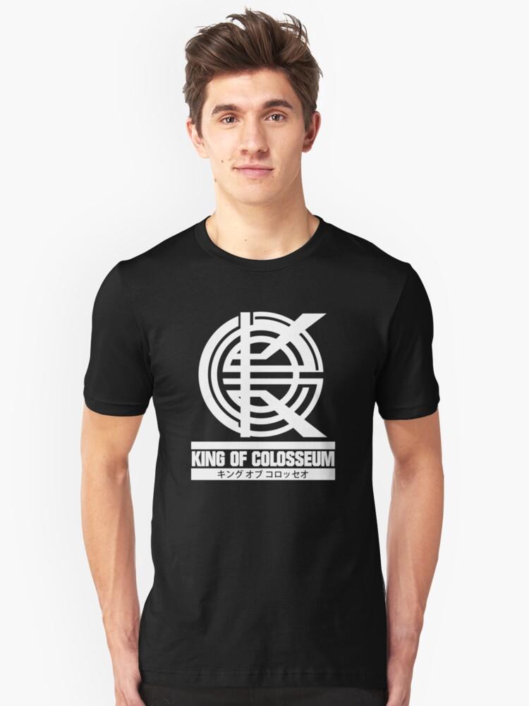 King of Colosseum - v1 - Solid White Unisex T-Shirt Front
