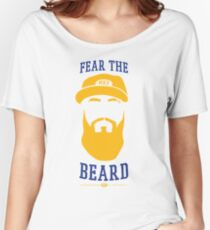 Eric Thames - Fear the Beard (White Background) Women's Relaxed Fit T-Shirt