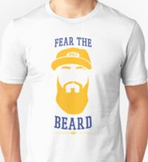 Eric Thames - Fear the Beard (White Background) Unisex T-Shirt