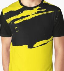 Yellow Modern Grunge Brush Pattern Design Graphic T-Shirt