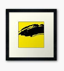 Yellow Modern Grunge Brush Pattern Design Framed Print