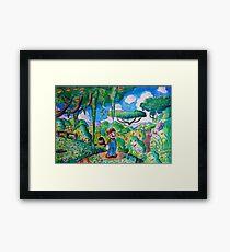 Raccoon Mario Watercolor Framed Print