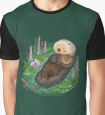 Sea Otter Mother & Baby Graphic T-Shirt