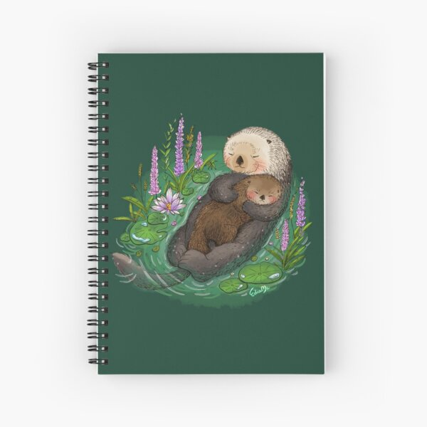 Sea Otter Mother & Baby Spiral Notebook