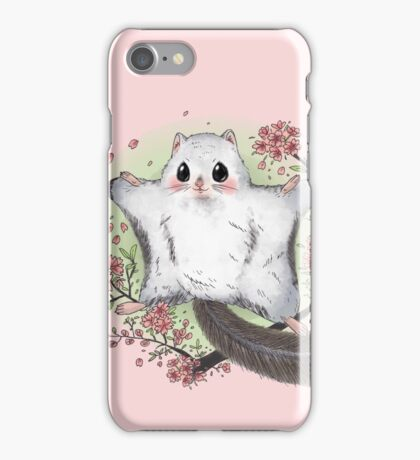 Flying Squirrel with Cherry Blossom iPhone Case/Skin