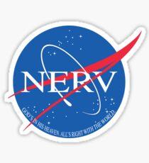 NASA and NERV Sticker