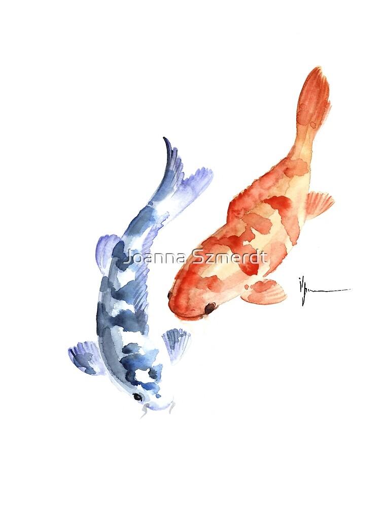 Pisces painting watercolor art print by Joanna Szmerdt