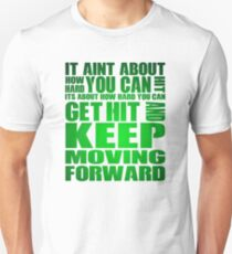 It Aint About How Hard You Can Hit! - Green/Dark Green T-Shirt