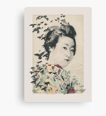 She, Portrait of Geisha Canvas Print