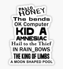 Radiohead Albums Sticker