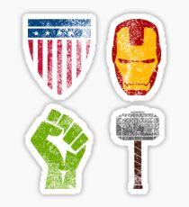Four Avenge Sticker