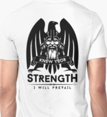Know Your Strength / Wikinger / Vikings / Schwarz T-Shirt