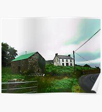 Irish Barn #2, Donegal, Ireland Poster