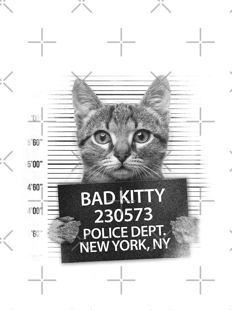 Bad Kitty Cat Police Line Up by GarnetLeslie