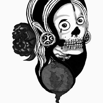 Devil's Rose Black and White by MissOdd