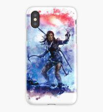 Tomb Raider Painting iPhone Case