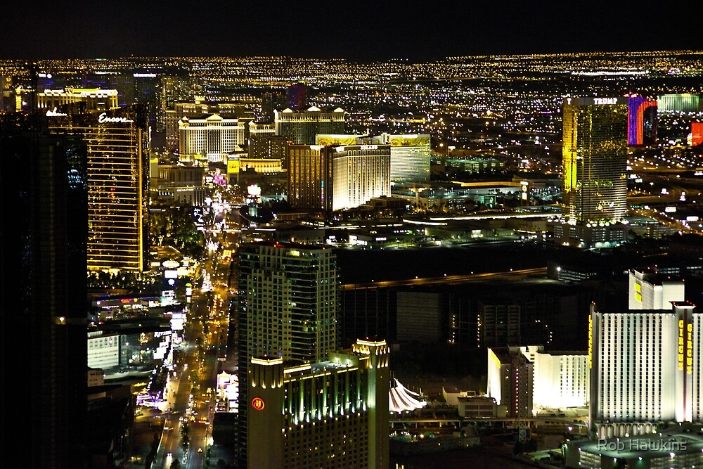 The Strip from the Stratosphere by Rob Hawkins