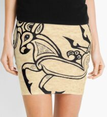 SCYTHIAN DEER TATTOO 1 Mini Skirt