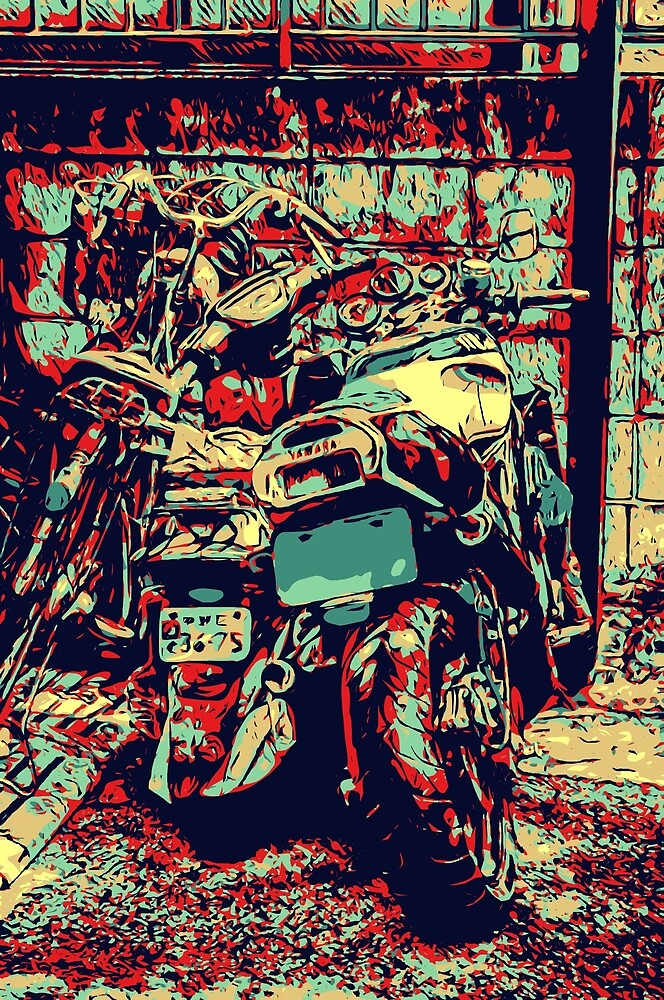 Red Yamaha by Brendan Arthur Ring