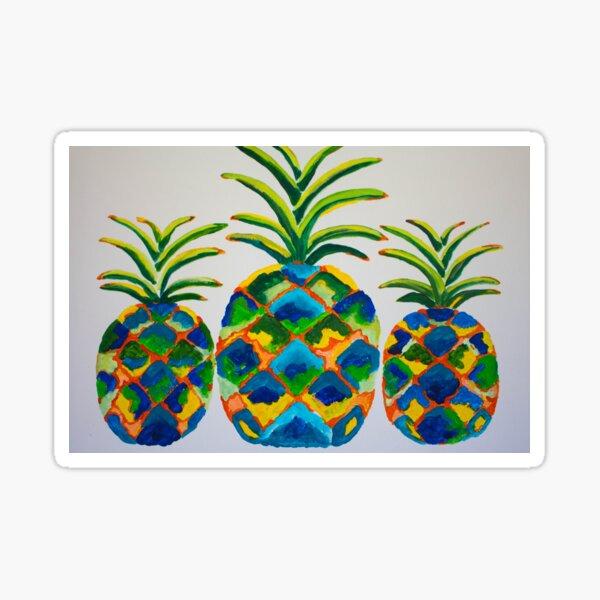 Blue Pineapples Sticker