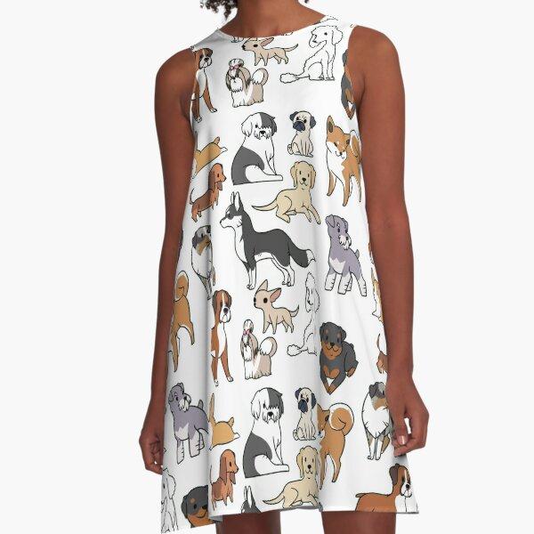 Dogs A-Line Dress