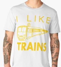 I like trains Men's Premium T-Shirt