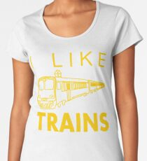 I like trains Women's Premium T-Shirt