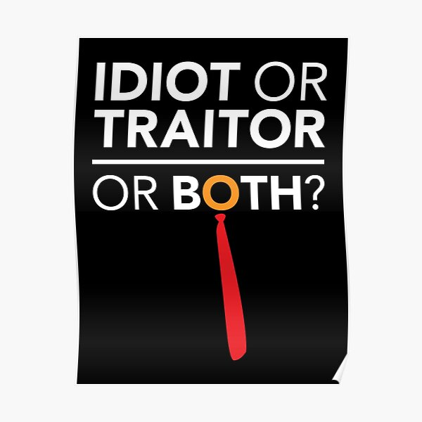 Idiot, Traitor or both Poster
