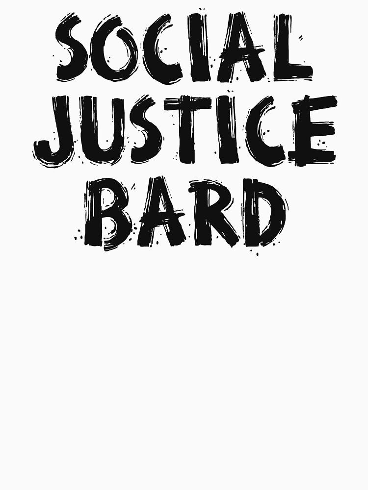 SOCIAL JUSTICE BARD (Black) - Dungeons & Dragons by enduratrum
