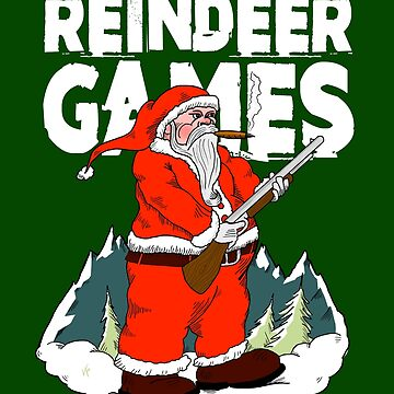 Christmas Reindeer Games with Santa Clause by DOODL