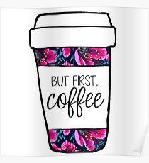 But First, Coffee Tropical Mug Poster