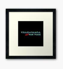 Trashpanda and The Twig Framed Print