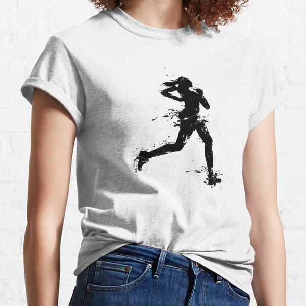 Weiblicher Läufer 1c Classic T-Shirt