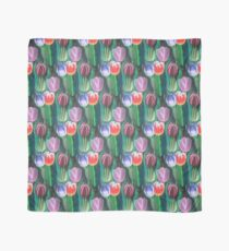 Tulips Bouquet Acylic Painting Scarf