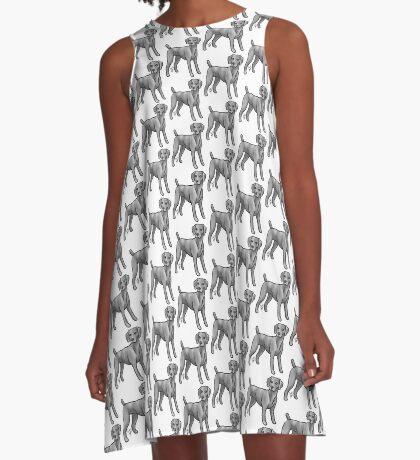 Weimaraner A-Line Dress
