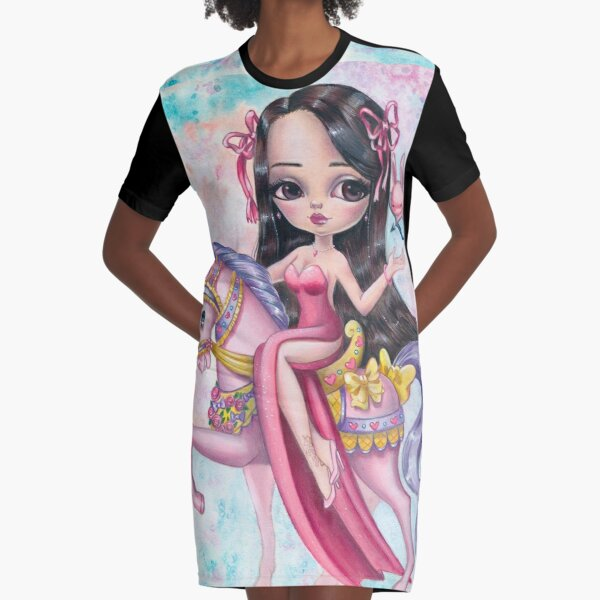 Artemide And The Love Bunny Graphic T-Shirt Dress