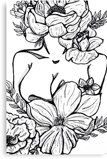 Flower Goddess by luckyeyeink
