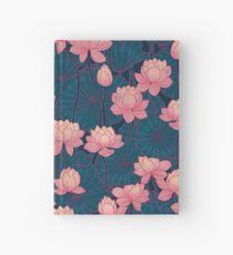 waterlily pink lotus Hardcover Journal
