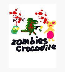 Zombies crocodile Photographic Print