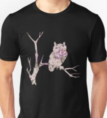 Floral Owl on Branch Unisex T-Shirt