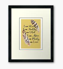 I Am Affirmations Framed Print