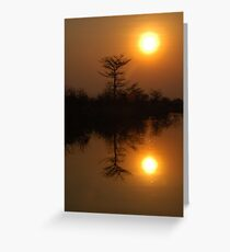 Okavango sunset Greeting Card