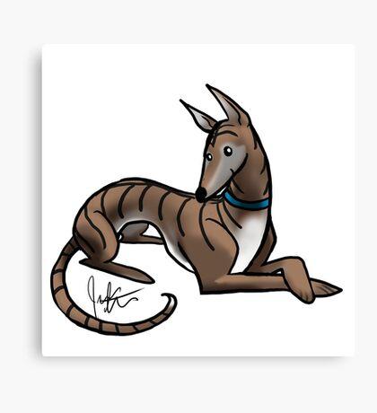 Greyhound - Dark Brindle Canvas Print