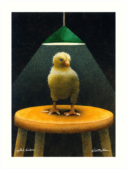 Will Bullas / art print / grilled chicken... / humor / animals by Will Bullas