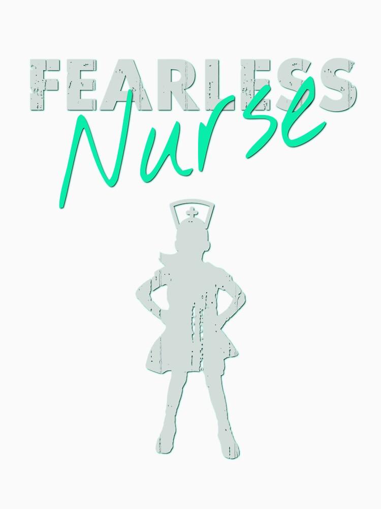 Fearless Girl - NURSE- Grey/Aqua by WOWe