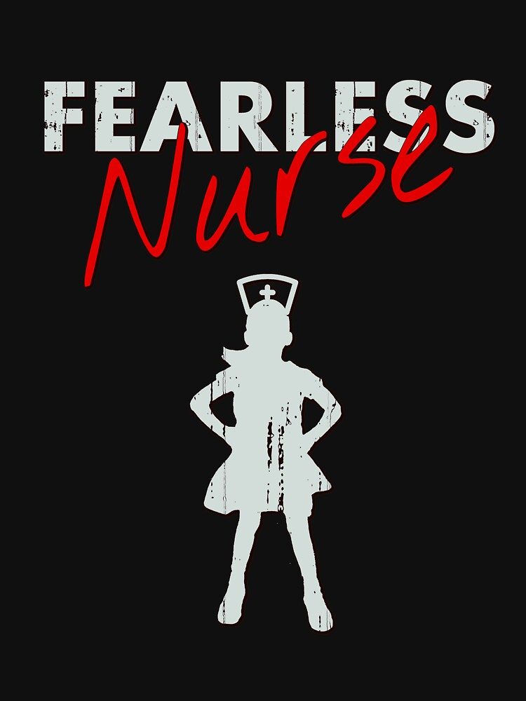 Fearless Girl - NURSE- Grey/Red by WOWe